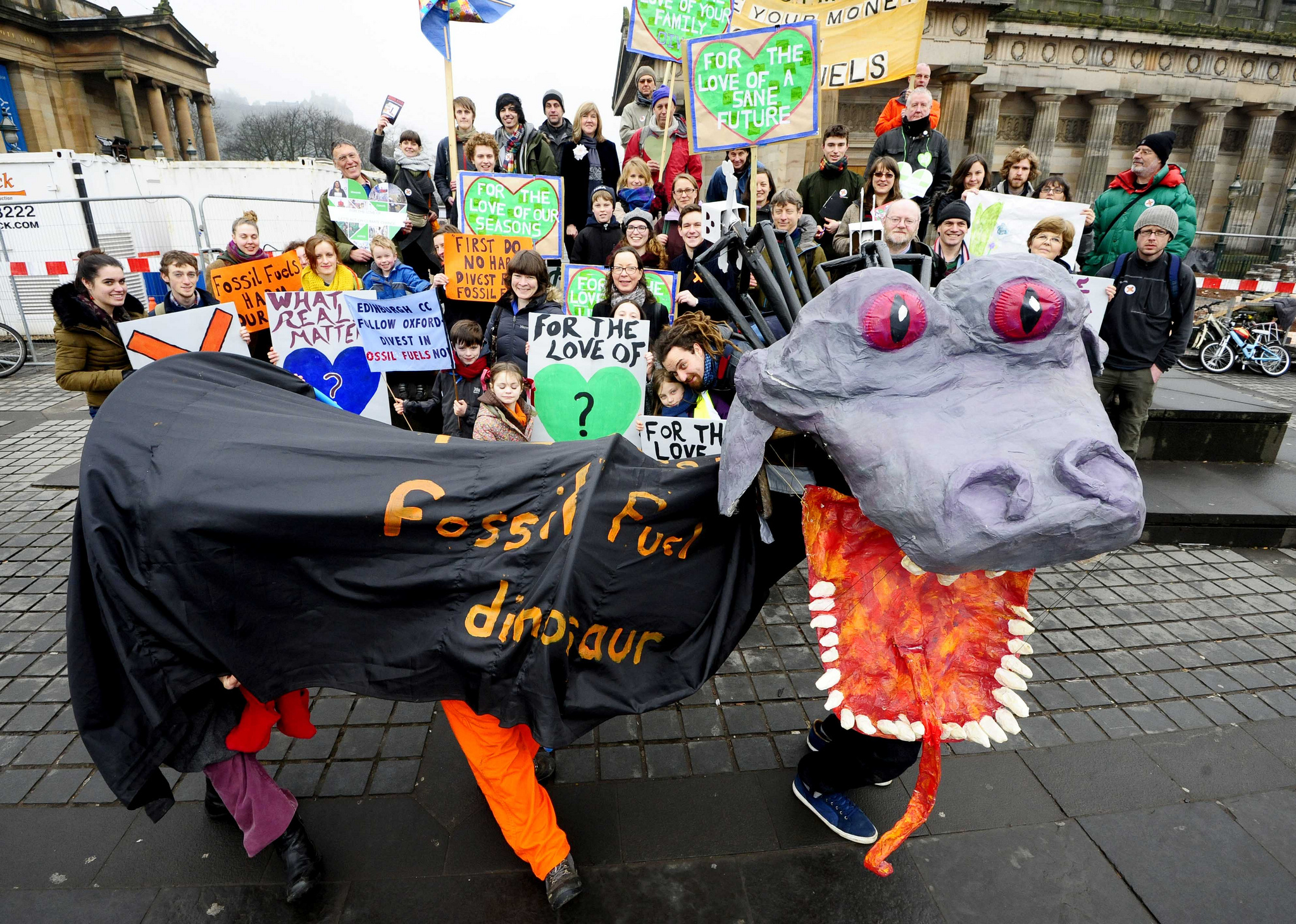 Global Divestment Day in central Edinburgh.