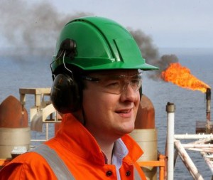 George Osborne visits North Sea oil platform.  Source: WPA Pool/Getty Images Europe)