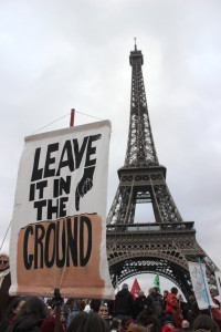 Protests at Paris Climate talks Credit: Ric Lander
