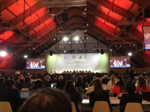 Conference Hall, Paris Climate Talks