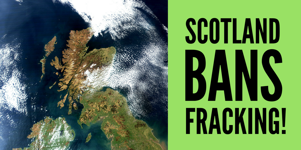 Scotland bans fracking