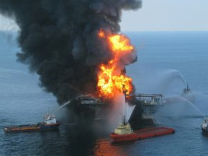 The Deepwater Horizon disaster led to BP being given the largest environmental fine in US history. Photo by the US Coast Guard.