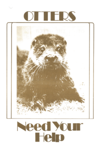 'Otters need your help' poster from 1970s
