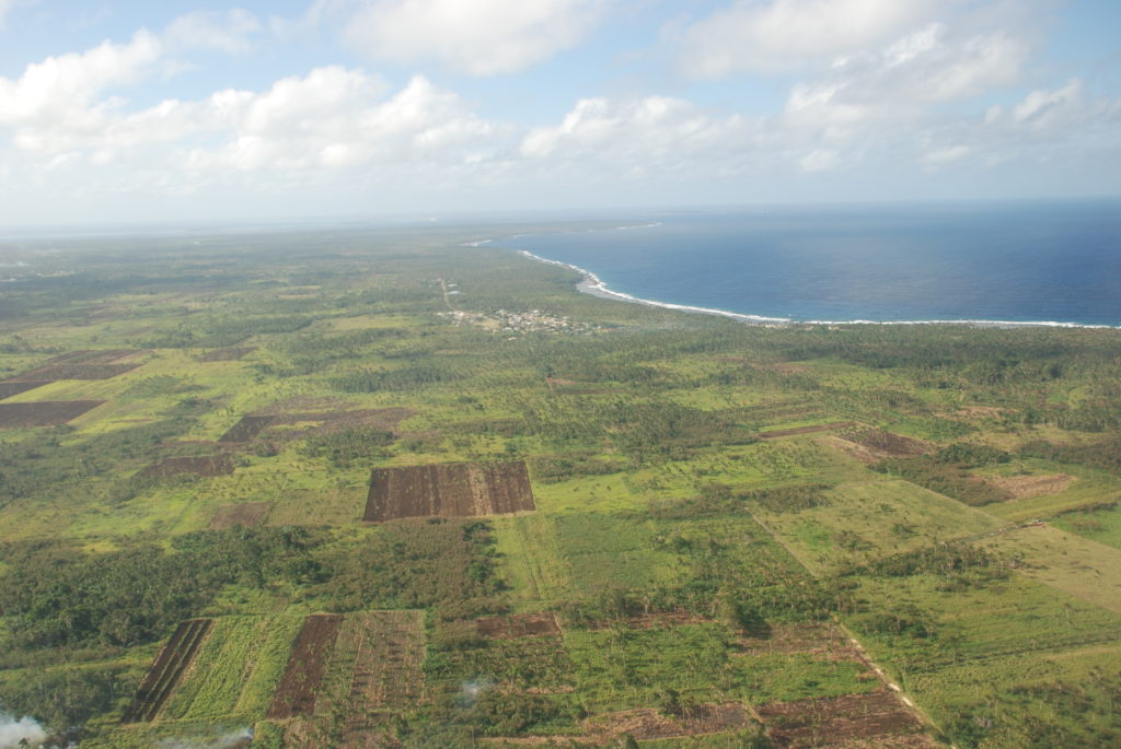 Aerial photo across Tongatapu