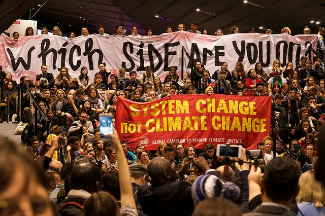 Hundreds of Civil society protests at UN climate conference