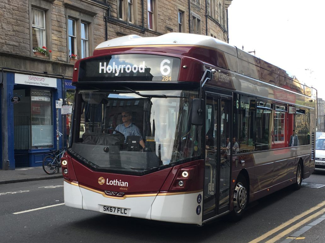 Lothian bus going to Holyrood