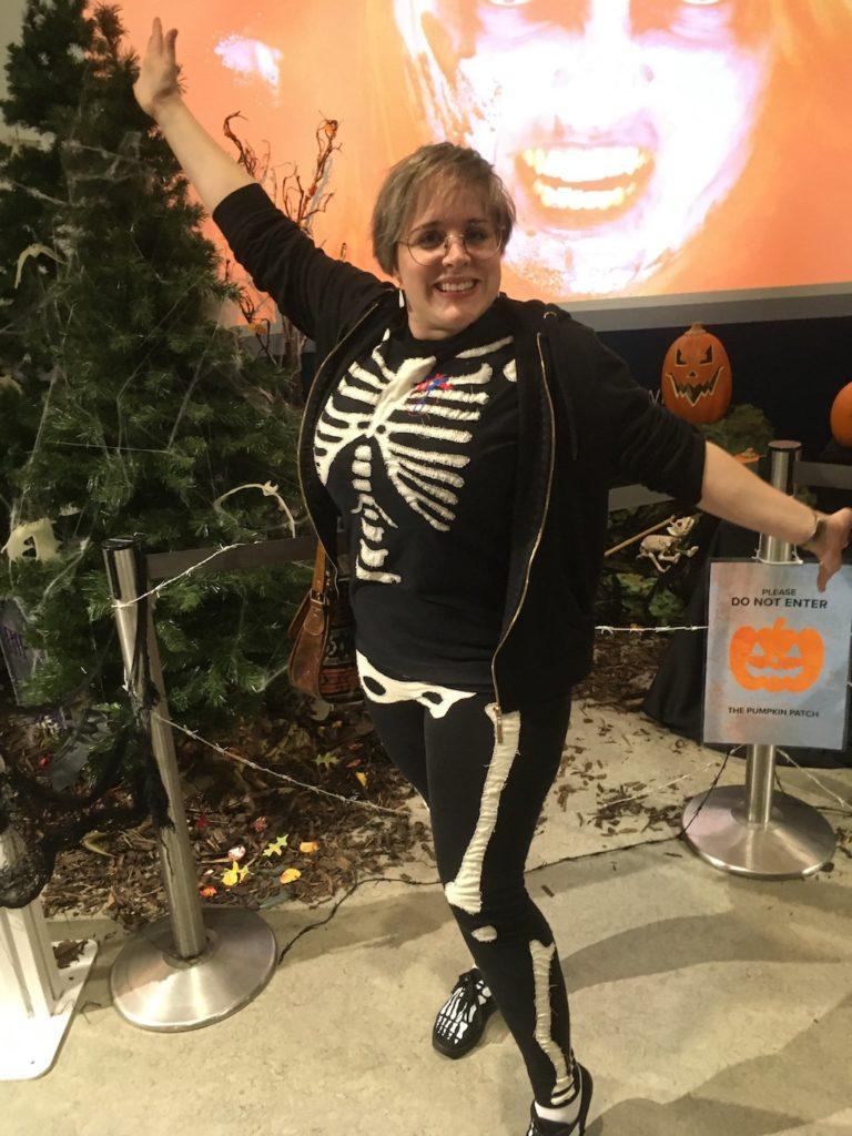 Laura Curtis Moss Halloween Skeleton costume