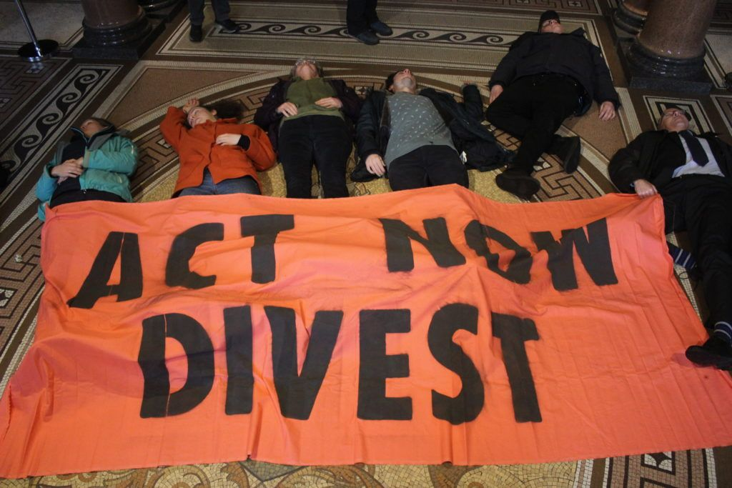 Extinction Rebellion stage a die-in at Glasgow City Chambers