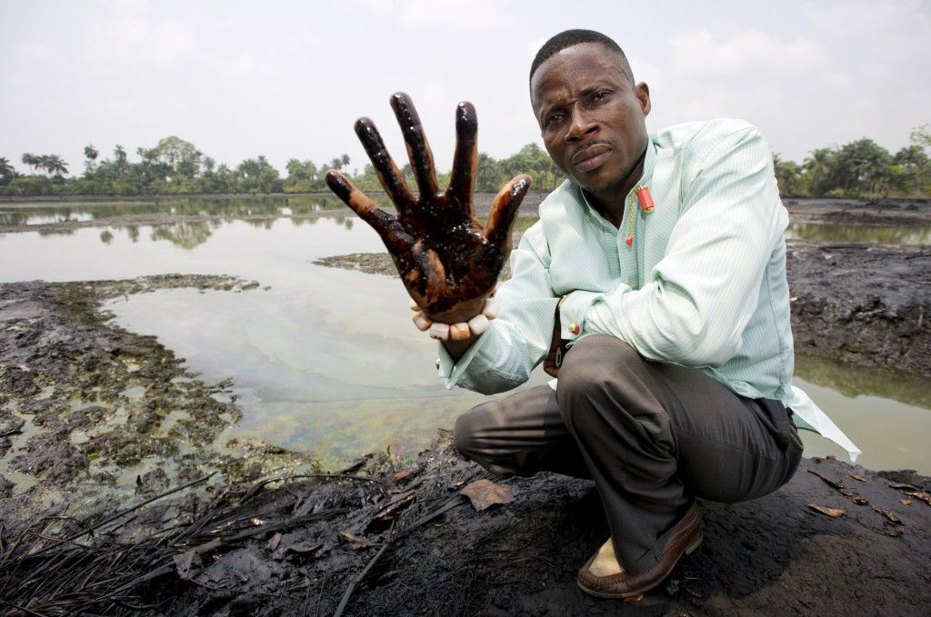 Oil pollution in Goi, Nigeria